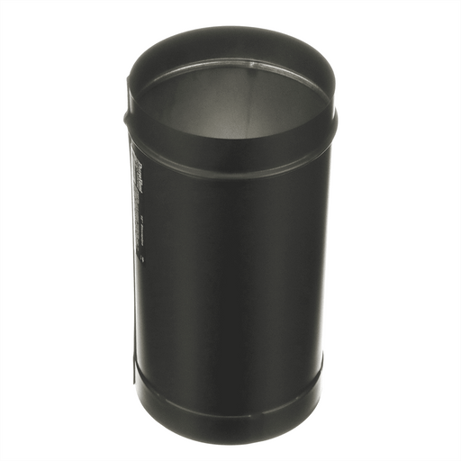 "Simpson DuraBlack 6"" Single Wall Black Stovepipe, 12"" Length, #1612 - Stove Parts 4 Less"