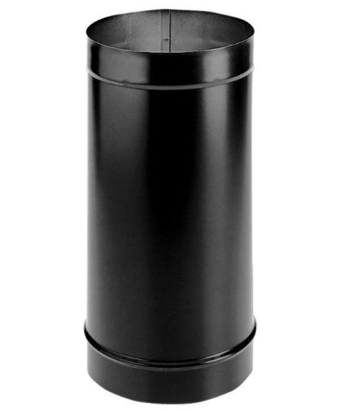 "Simpson DuraBlack 6"" Single Wall Black Stovepipe, 24"" Length 6DBK-24 - Stove Parts 4 Less"