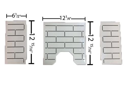 St Croix Steel Brick Kit Pepin, Hastings and Greenfield #80P53981 - Stove Parts 4 Less
