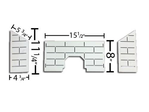 St Croix Steel Brick Kit, for Prescott model starting with serial numbers 7950+. by St. Croix # 80P53986 - Stove Parts 4 Less