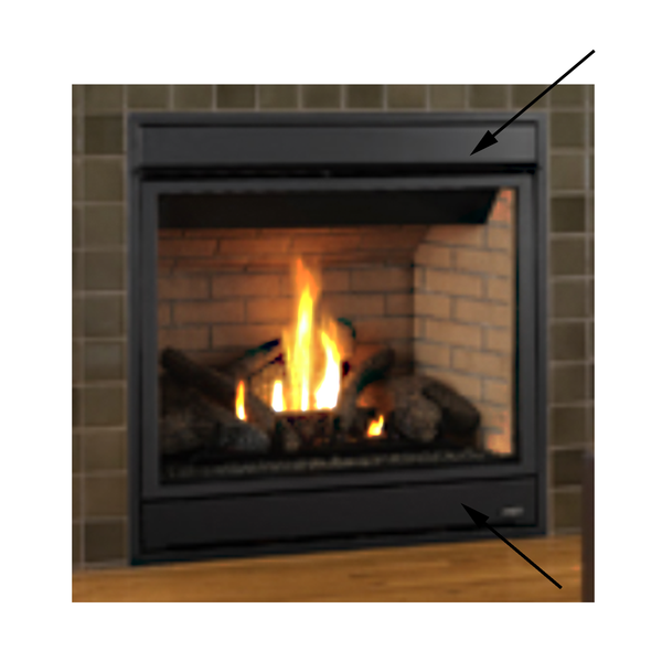 Lennox MPD4035 Gas Fireplace Radiant Panels, 88L37