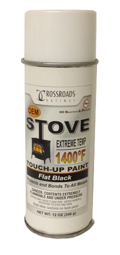 Englander Black Spray Paint, AC-MBSP - Stove Parts 4 Less