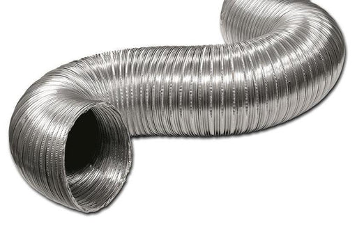 "3"" x 30' Aluminum Flex Pipe For outside air venting only, #Aluminum-Flex-3-X-30 - Stove Parts 4 Less"