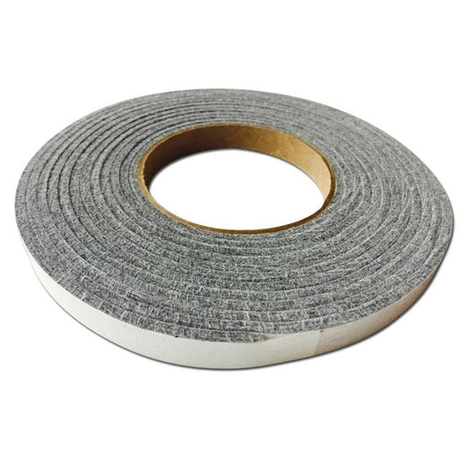 Lavalock 1/2 x 1/8 x 15' Grey Gasket With Self Adhesive For BBQ Smokers - Stove Parts 4 Less