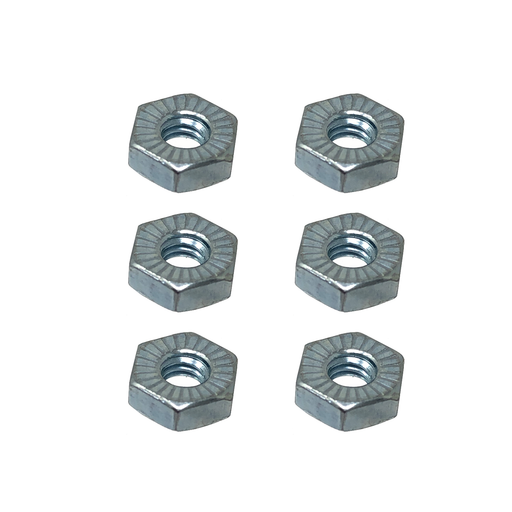 Combustion Blower Quick Disconnect Mounting Screw Serrated Hex Nuts, Set of 6, HDW600