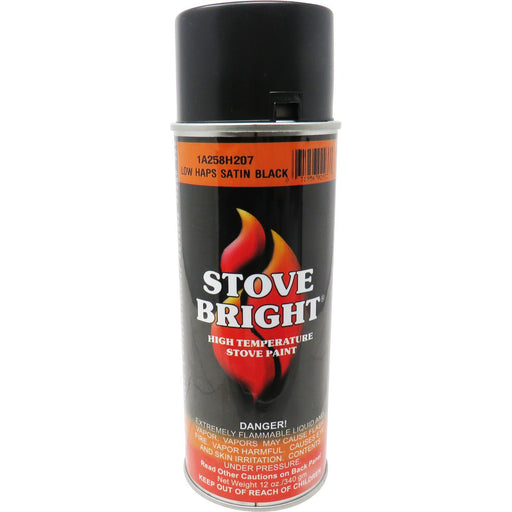 HHT Low Haps Satin Black Stove Paint 12 oz, 3-42-19905
