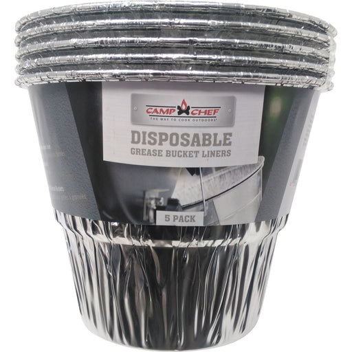Camp Chef Disposable Pellet Grill Grease Bucket Liners 5-Pack, PGFB
