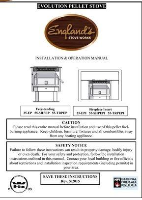 Englander Stove Manual 25 Ep Mu25ep Stove Parts 4 Less