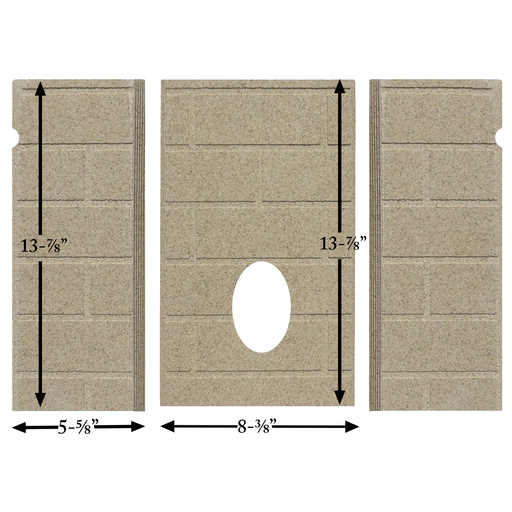 Whitfield Firebrick 24220200 for Older Advantage I & II, 3 piece,13-7/8' tall, PP1001