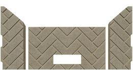 Whitfield 11750015 Advantage Plus Herringbone Firebrick. PP1205 - Stove Parts 4 Less