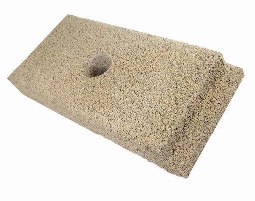 "Firebrick, 1-1/4"" Thick notched top with hole 4-1/2"" x9"". Fits: Earth Stove. Replaces brick: FB3. PP1903 - Stove Parts 4 Less"