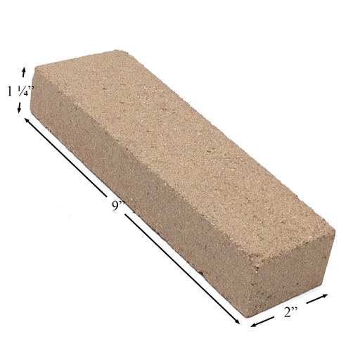 "Firebrick 1-1/4"" Thick 2"" x 9"". Replaces Earth Stove brick FB7, PP1907"