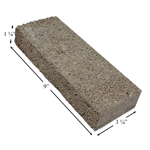 "Firebrick 1-1/4"" Thick 3-1/4"" x 9"". Replaces Earth Stove brick FB22, PP1922"