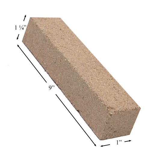 "Firebrick 1-1/4"" Thick 1"" x 9"". Replaces Earth Stove brick FB29, PP1929"