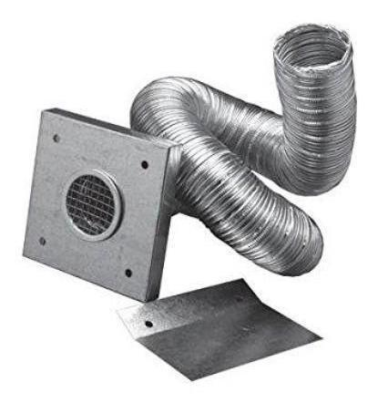 "2"" Fresh Air Intake Kit For Pellet Stoves, With 10' Of Aluminum Flex Pipe, 10' OAK KIT - Stove Parts 4 Less"
