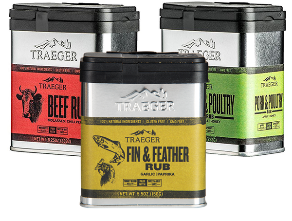 Traeger Grill Rubs Protein Lovers Variety 3-Pack - Pack B - Big Savings!
