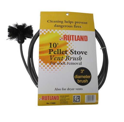 "Pellet stove vent pipe cleaning kit, 3"" Brush With 10' Flex Handle by Rutland #17409 - Stove Parts 4 Less"