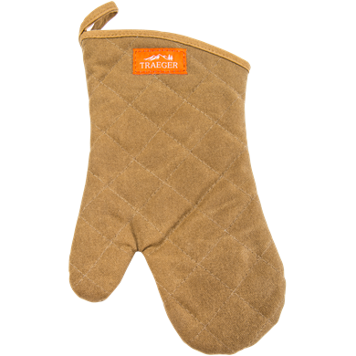 Traeger BBQ Grilling Mitt Brown Canvas & Leather, APP195 - Stove Parts 4 Less