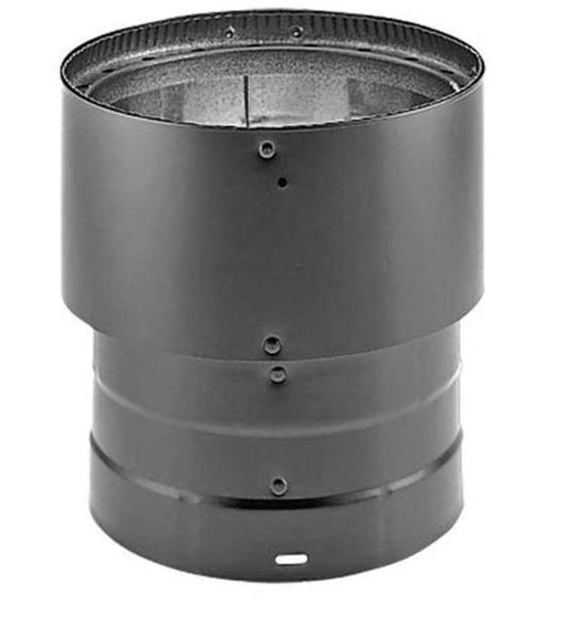 "DuraVent 6"" Inner Diameter DVL Stove Pipe Double Wall 5"" to 6"" Inc, Black, 5DVL-X6 - Stove Parts 4 Less"