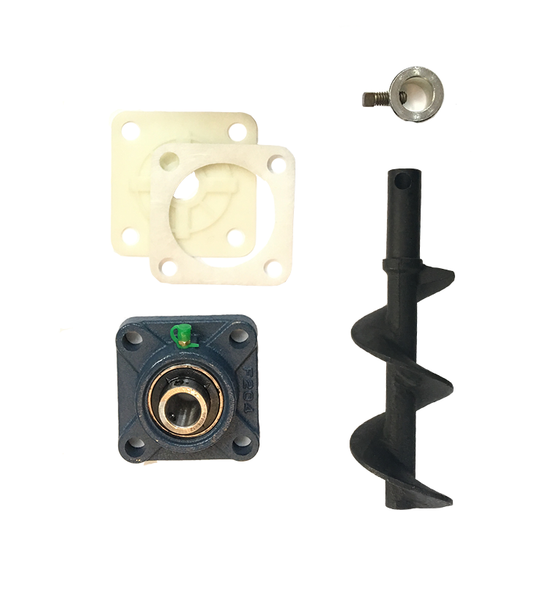 Englander Top Auger Kit Includes Shaft, Bearing, Locking Collar & Gaskets - NO MOTOR - Stove Parts 4 Less