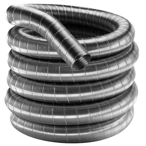 "4"" X 25' Stainless Steel Flex Pipe, 1030606 - Stove Parts 4 Less"