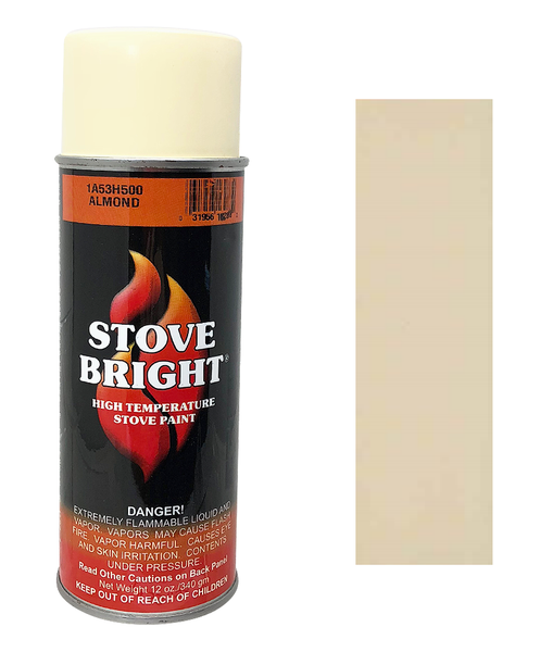 Stove Bright Aerosol stove paint Almond 12oz Used on Many Models,. #16283 - Stove Parts 4 Less
