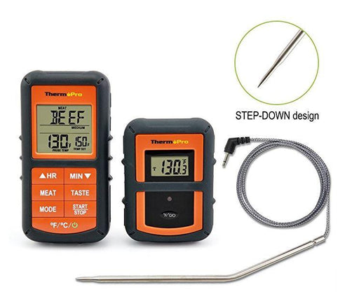 ThermoPro TP-07 Wireless Remote Digital Cooking Food Meat Thermometer for Grilling Oven Kitchen Smoker BBQ Grill Thermometer W/Probe - Stove Parts 4 Less