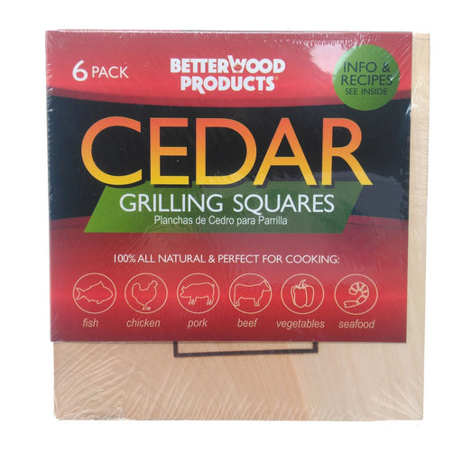 All Natural Cedar Squares For Grilling (6-Pack)