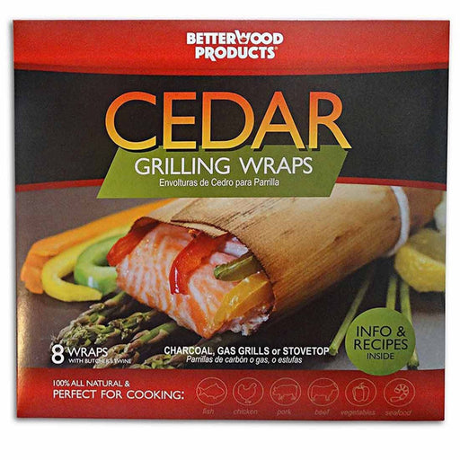All Natural Cedar Wraps For Grilling (8-Pack)