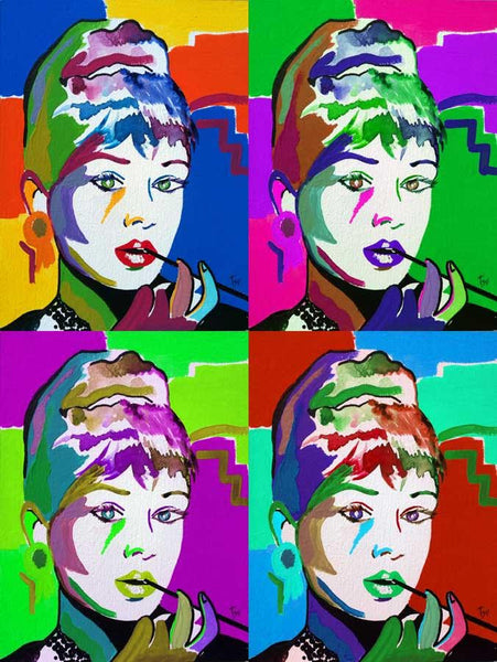 Audrey Hepburn pop-art