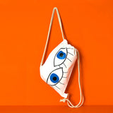 Blue eyes drawstring backpack