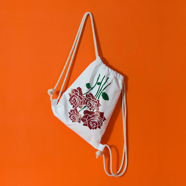 Roses bouquet Drawstring backpack