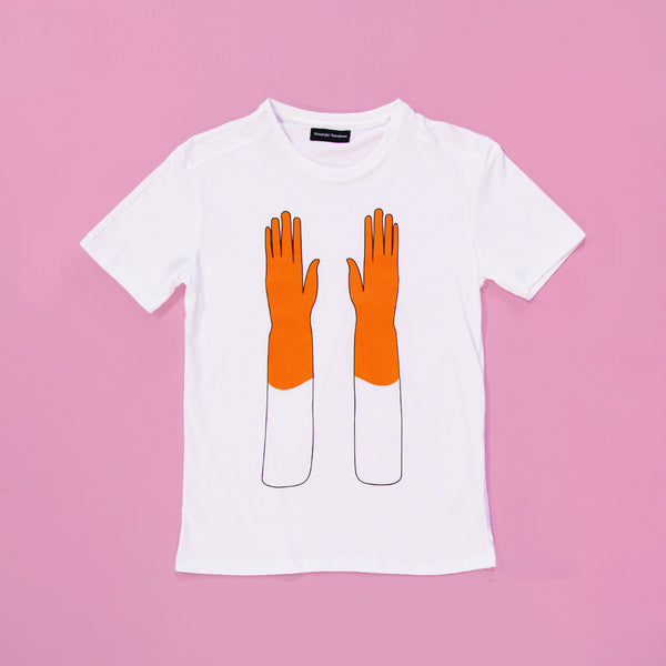 Orange Gloves T shirt