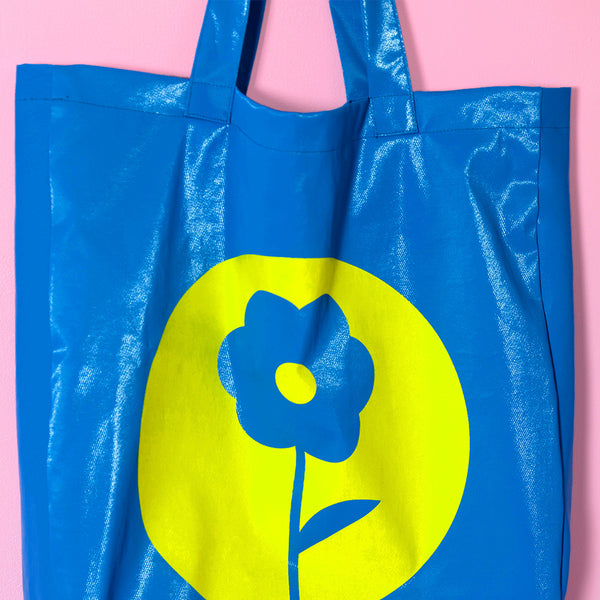Yellow Flower Shoppers Bag