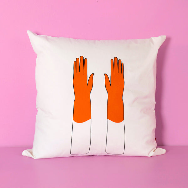 Orange Gloves XL pillow