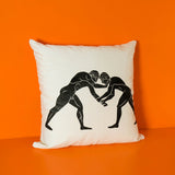 Greek warriors white pillow