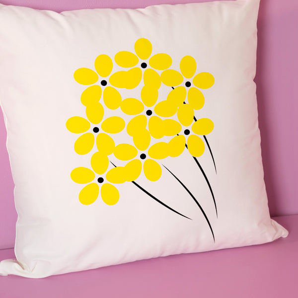Yellow Flowers XL pillow