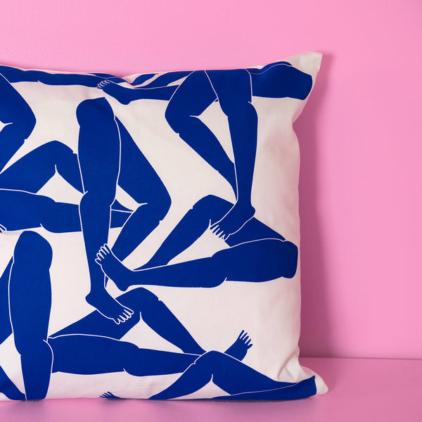 Blue Legs pillow