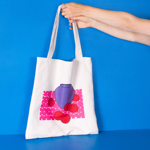 Vase & Apples sack bag