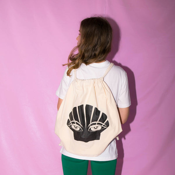 Attitude Shell Drawstring backpack