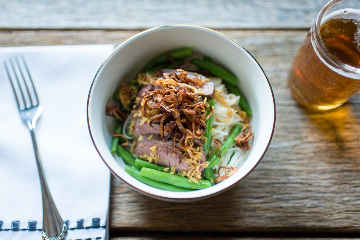 Steak and Green Bean Soba Noodle Bowl
