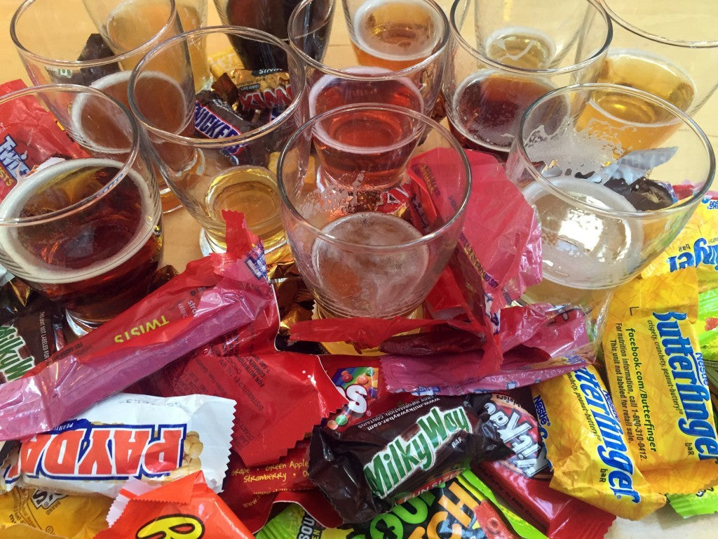 Halloween Candy and Beer