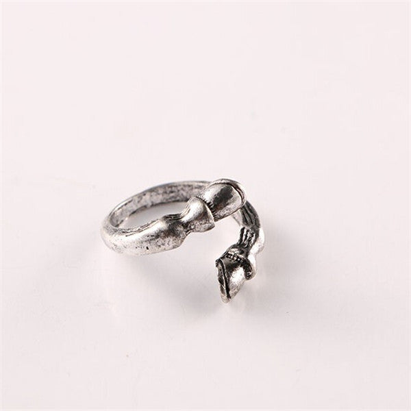 Vintage Horse Hoofs Inspired Resizable Ring
