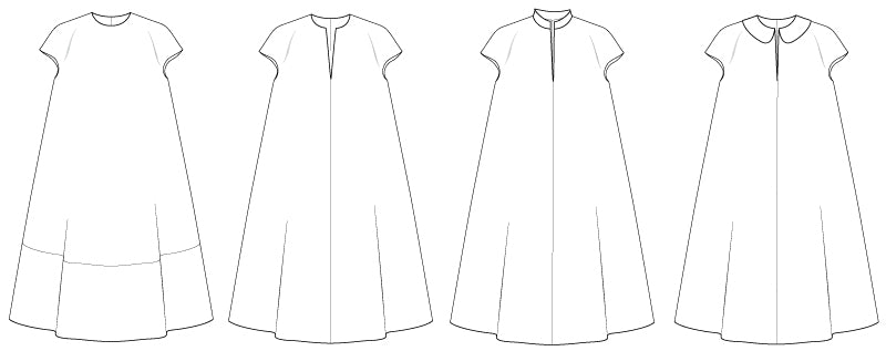 Pattern Of The Week The Aline Dress Cut Up Studio Amazing A Line Dress Pattern