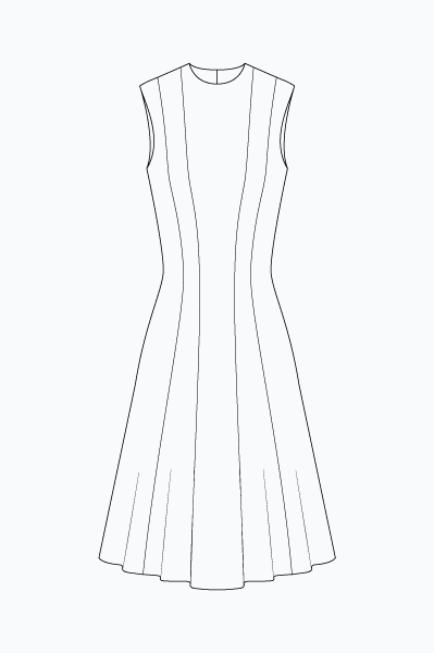 Princess cut dress 2