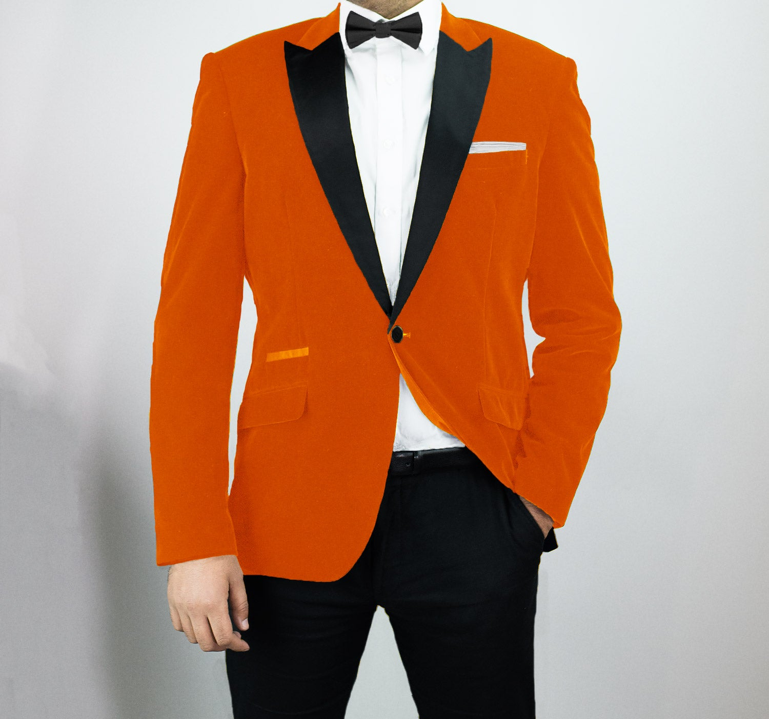 House Of Cavani Orange Velvet Blazer Kingsman