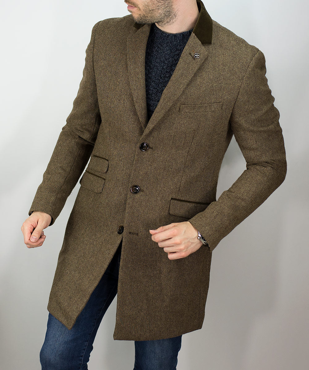 House Of Cavani Kingston Tan Overcoat