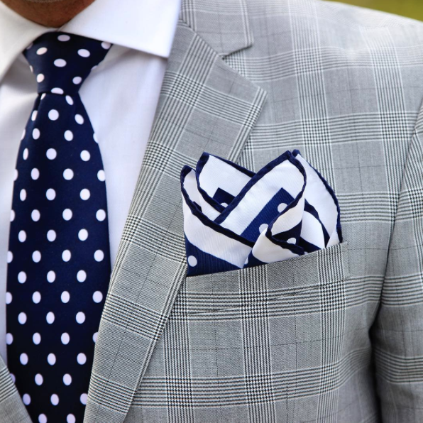 a174e9f80612c Silk is a very popular choice for them, so why not wear a silk pocket square  with a different tie ...