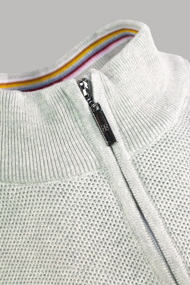 Kyle Grey Half Zip knit