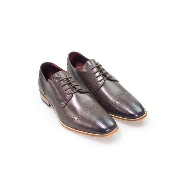 Rome Dark Brown Brogue Shoes
